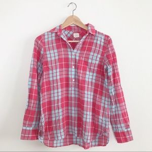 J. Crew Red and Blue Plaid Button Shirt